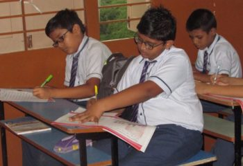 Sulekhan Competition students are writing test