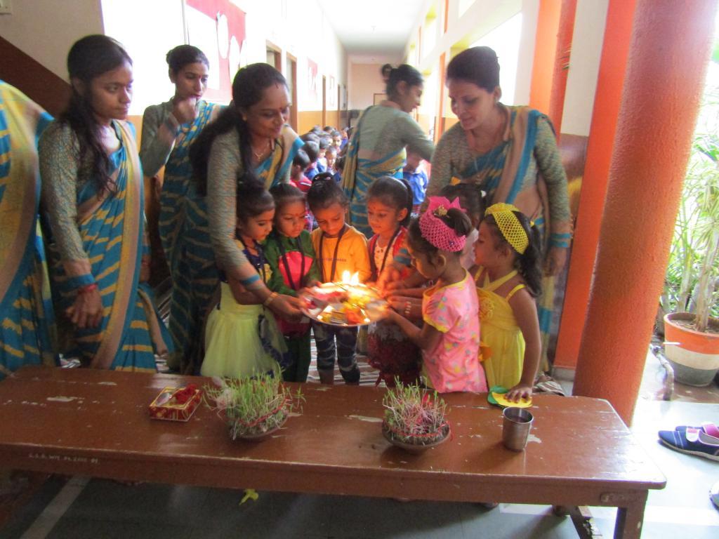 gauri pooja aarti with kids