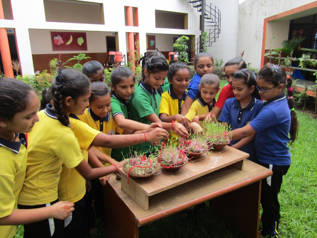 gauti pooja in school garden