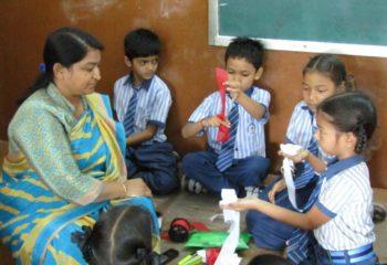 classroom activity on saraswati shishukunj