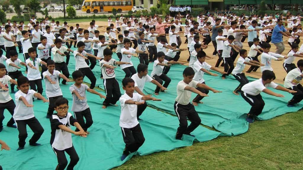 International Yoga Day at saraswati shishukunj borsad
