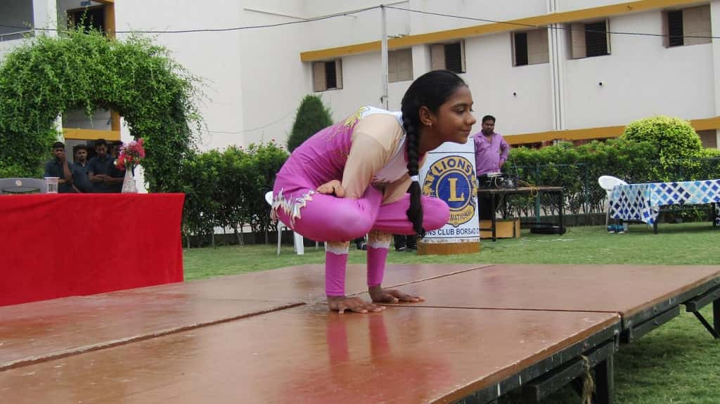 International Yoga Day at saraswati shishukunj borsad