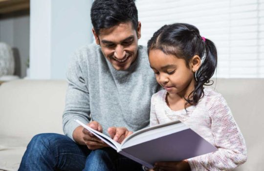 Parent teaching homework